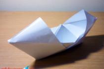 Cara Membuat Perahu Kertas Bertudung :: Origami Perahu Kertas